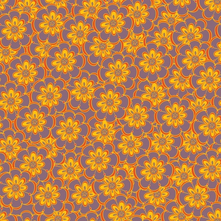 Floral seamless abstract hand-drawn pattern   background