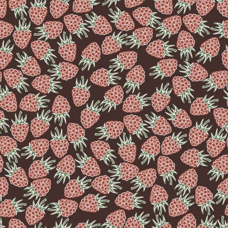 Beautiful seamless pattern with raspberries  Seamless pattern can be used for textiles, wrapping paper, wallpaper, web page background Vector