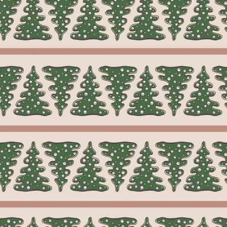 Beautiful seamless pattern with fir tree Illustration