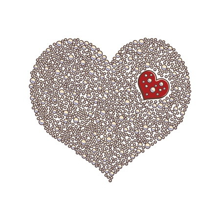 heart with abstract ornament  Heart design element background for cute cards on Valentine s Day  Heart love concept  Illustration