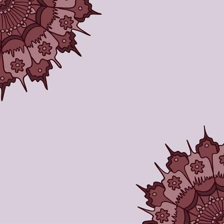 Beautiful rosette design background Illustration