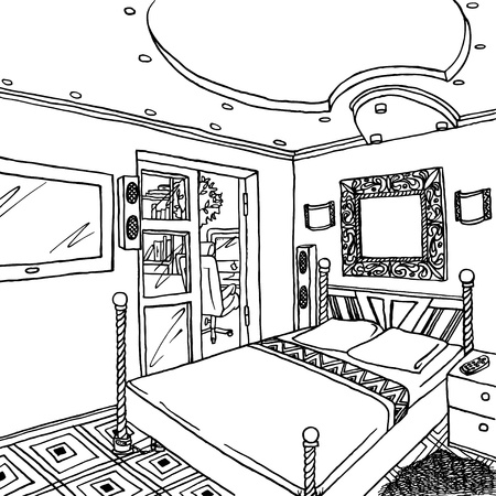 allegoric: Interior of a bachelor s or single woman room