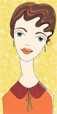 detachable: Fashion girl in detachable collar