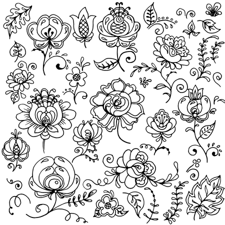 A beautiful set of flowers to be used in wedding invitations, cards and other types of design. Stock Vector - 44653399