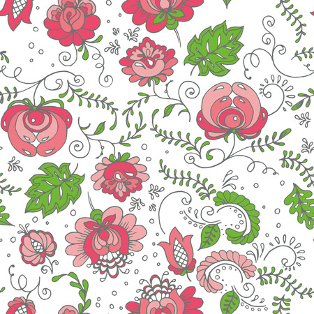 paper textures: Seamless background with hand-drawn flowers. Pastel color palette. Endless floral pattern. Can be used for textile, wallpaper, surface design, backdrop, wrapping paper textures etc.