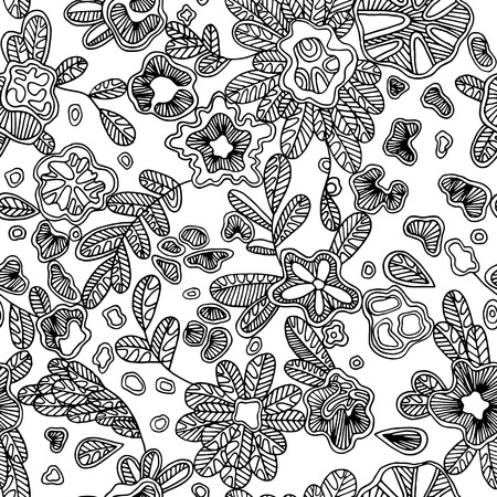 textile texture: Floral endless pattern will look great on fabric, wrapping paper, any types of textile or other surface design. Vector hand-drawn flowers make a beautiful texture lace pattern.