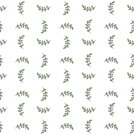 Seamless background with hand-drawn leaves. Pastel color palette. Endless pattern. Can be used for textile, wallpaper, surface design, backdrop, wrapping paper textures etc.
