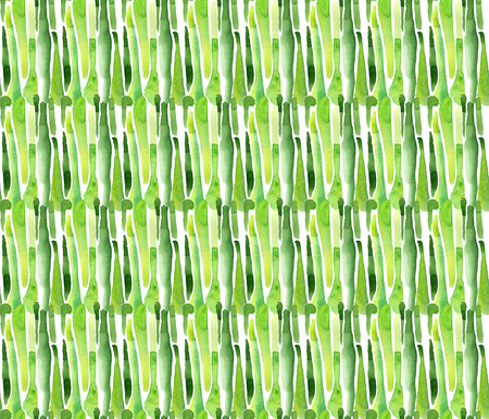 Seamless watercolor bamboo abstract background Stock Photo
