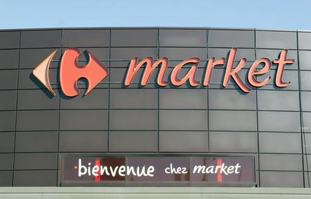 Paris, France -june 15, 2017: Carrefour market in Paris Editorial