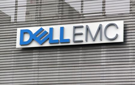 montpellier, 프랑스 -21 월 21 일, 2017 : montpellier의 벽에 편지 Dell emc