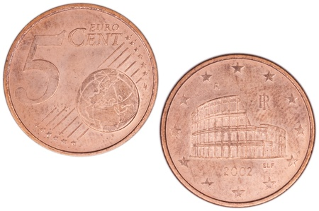 5 Euro Cent Stock Photo