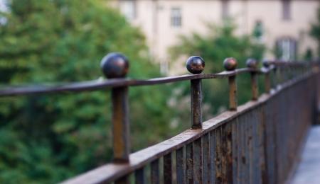 Infinite railing Stock Photo
