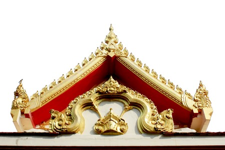 Thai Buddhist temple gable photo