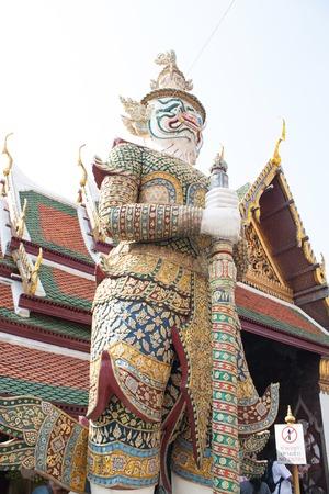 grand pa: Demon Guardian Wat Phra Kaew Grand Palace Bangkok