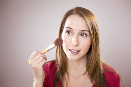 若い女性適用赤面
