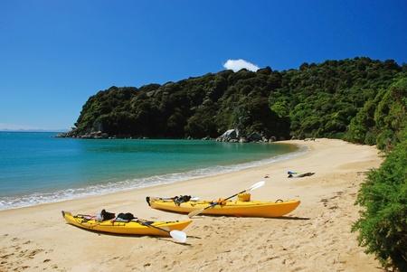 Kayaking in Abel Tasman National park, New Zealand photo