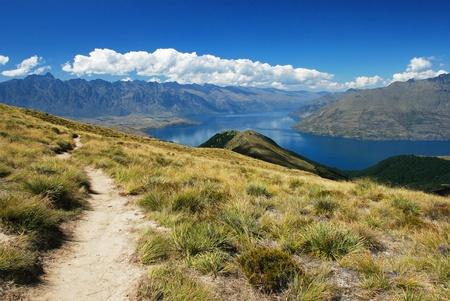 Track to Ben Lomond, Queenstown, New Zealand photo