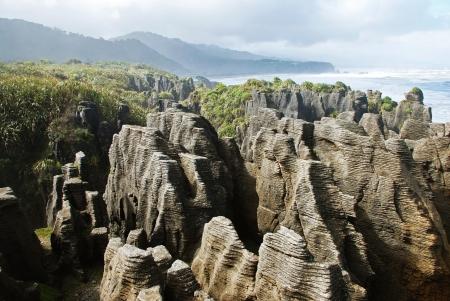 littoral: Pancake rocks, New Zealand