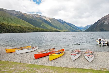 Kayaking in Nelson Lakes national park photo