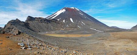Mount Ngauruhoe in Tongariro NP, New Zealand photo
