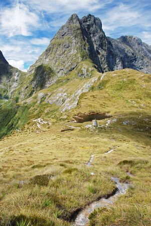 Mackinnon Pass, Milford track, New Zealand Stock Photo - 13643783