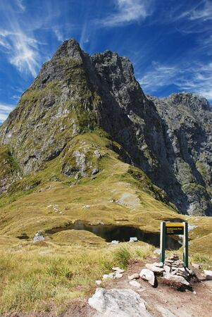 mackinnon: Mackinnon Pass, Milford track, New Zealand
