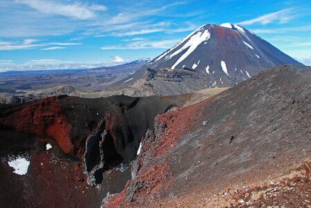 doom: Red crater in front of Mount Ngauruhoe, Tongariro NP, New Zealand