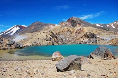 tongariro: Esmeralda lagos, Parque Nacional de Tongariro, Nueva Zelanda