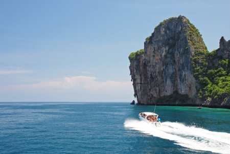 phi phi island: Boat trip around Koh Phi Phi island, Thailand
