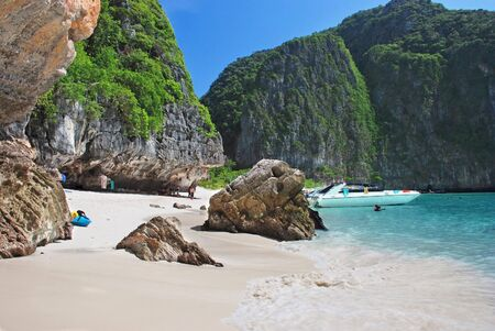 Tropical beach on Koh Phi Phi island, Thailand photo