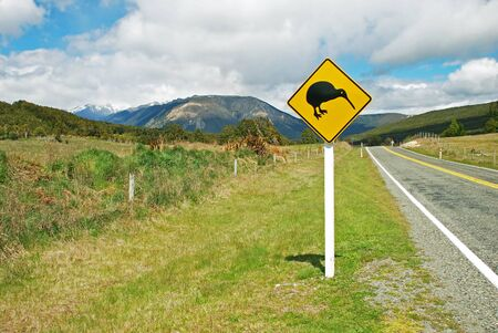 Kiwi sign by the road photo