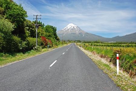 egmont: Road to Mt Egmont, New Zealand