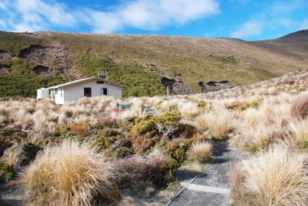 Trekking in Tongariro national park, New Zealand Stock Photo - 15403680