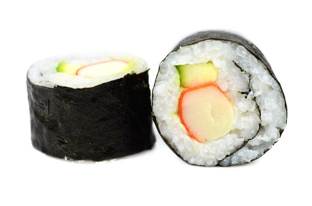 Maki sushi with crab stick and cucumber Stock Photo - 15404425