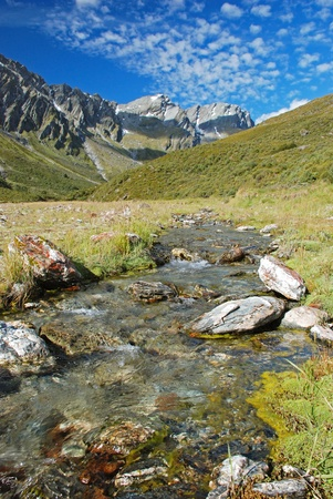 Rees Valley on Rees-Dart Track  two tracks that pass through spectacular alpine scenery  photo