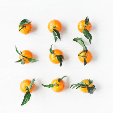 mandarijnen, plat leggen, bovenaanzicht
