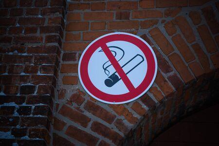prohibido fumar: se?al de no fumar