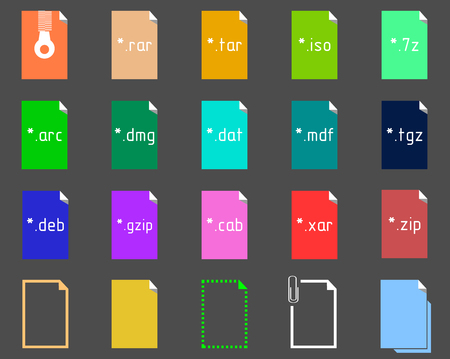 file extension: Set on the theme of Archive File Extension Icons