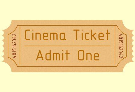 admit: old movie ticket. admit one. vector image