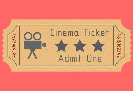 old movie ticket. admit one. vector image