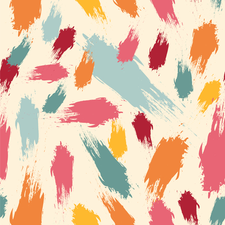 Seamless vector pattern with brushstrokes.