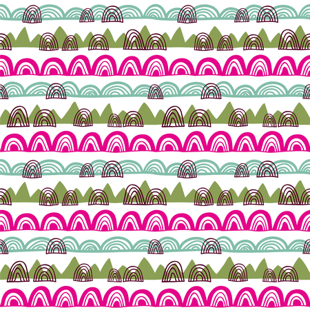 Seamless vector pattern with abstract shapes.