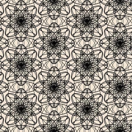 Abstract monochrome ornament. Seamless vector pattern.