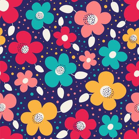 Seamless floral vector pattern. Ilustração