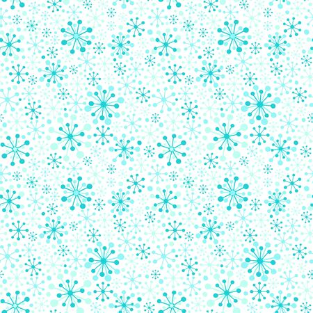 Seamless vector pattern with stylized snowflakes. Illustration