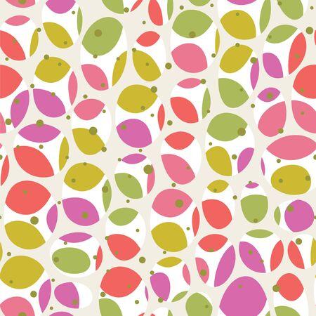 Abstract ovals background. Seamless vector pattern. Stock Illustratie