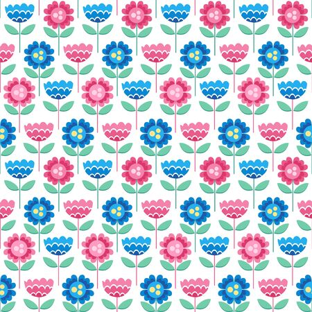 Scandinavian style background.Seamless vector pattern with decorative flowers.