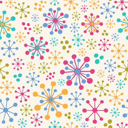 Simple seamless vector pattern with stylized flowers.