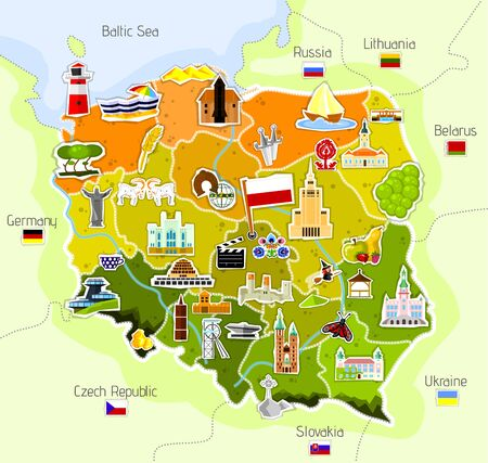 Mapa Polski Ilustracje wektorowe