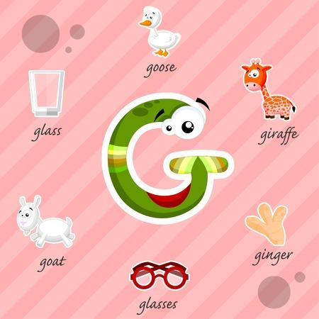 g giraffe: Funny letter G